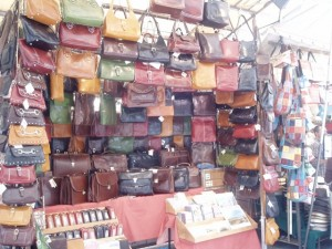 Shops of San Lorenzo Market, Florence, Italy