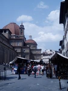 Street Shopping San Lorenzo Market Florence, Italy