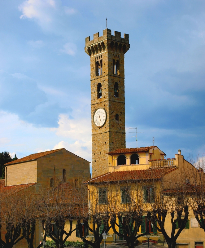 Bell Tower in Fiesole, Italy