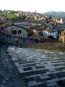 Cobblestone hills of Perugia, Italy
