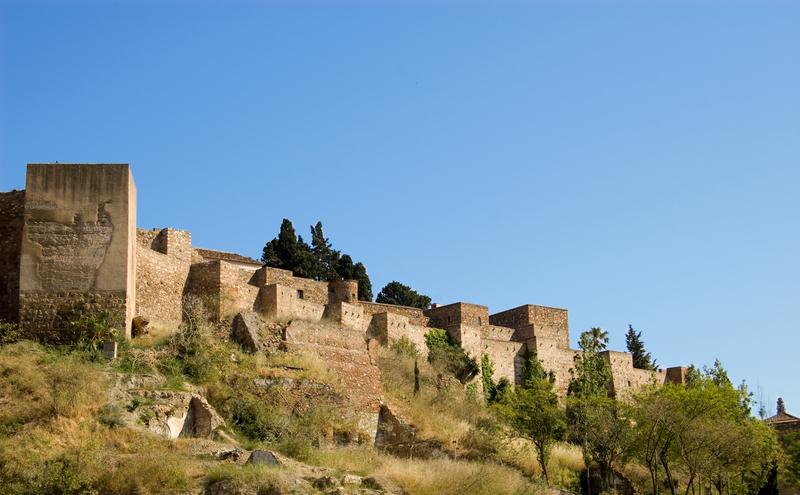 Moorish Fortress, Alcazaba, Malaga, Spain