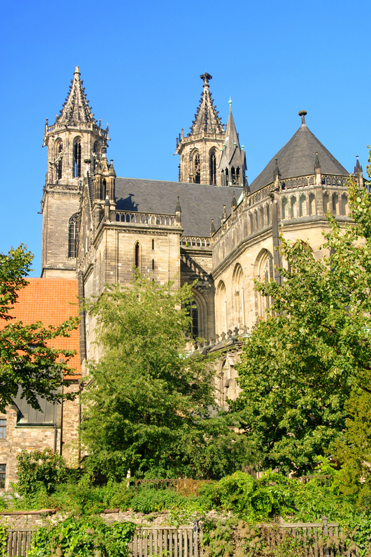 Old Gothic Cathedral, Magdeburg, Germany