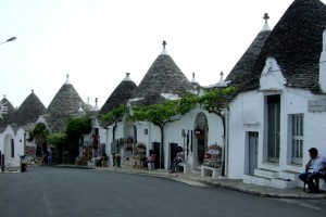 Trulli in Rione Monti district, Puglia, Italy