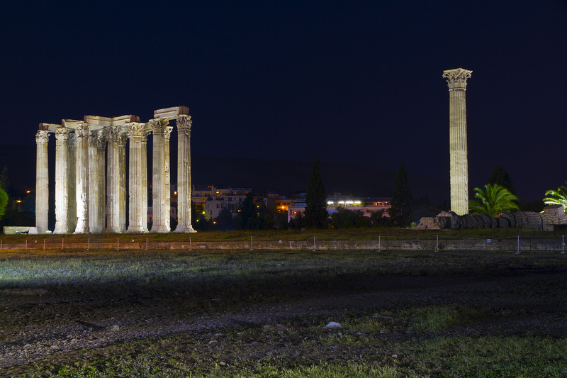 Ancient Temple Of Zeus, Athens, Greece