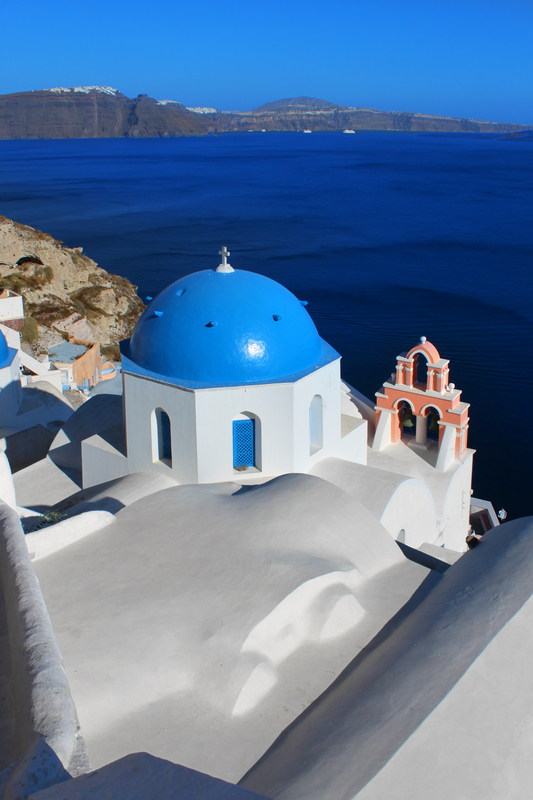 Church in Oia Santorini, Greece
