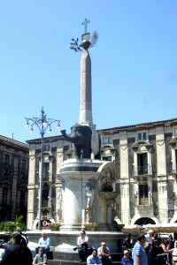 Elephant Fountain,Catania, Sicily, Italy