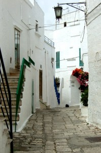 Ostuni alleys, Puglia, Italy