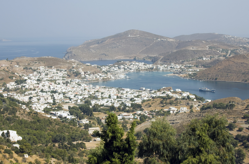 View of Sakala from Monastery of St. John, Patmos, Greece