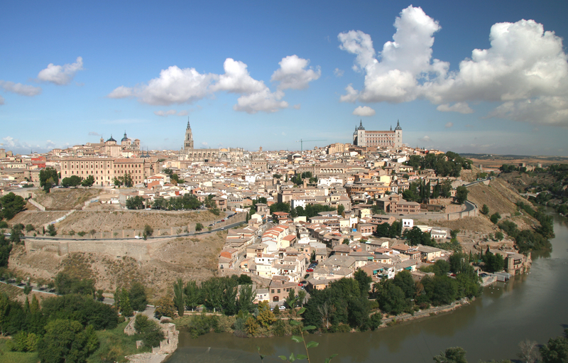 A Panoramic view of Toledo Spain