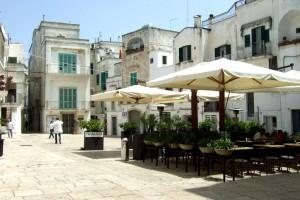 Cisternino Piazza Vittorio Emanuele, Puglia, Italy