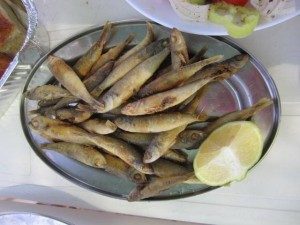 Plate of Greek Sardines