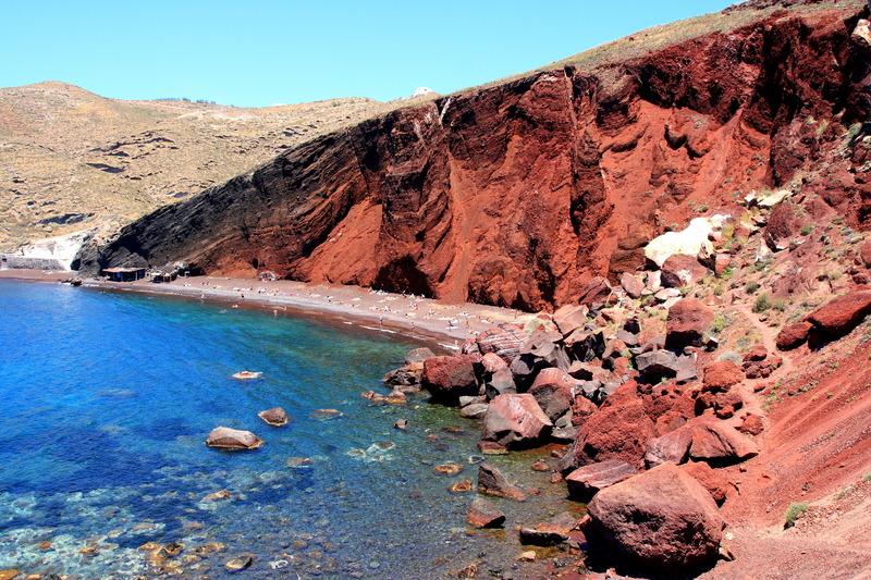 Red Beach of Akrotiri, Santorini, Greece