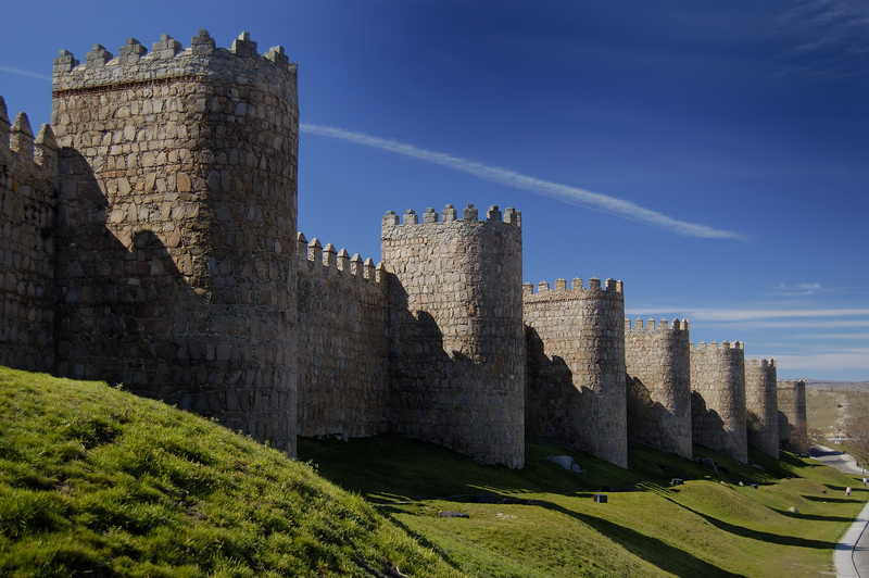Wall and Defensive Towers of Avila, Spain