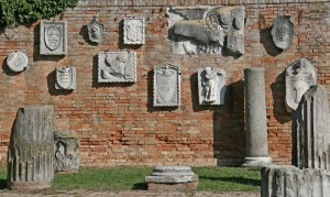 Wall with old Reliefs, Torcello, Italy