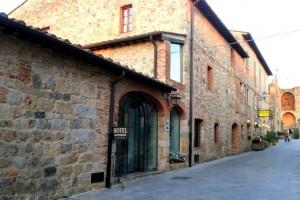 Monteriggioni hotel and shops, Tuscany, Italy