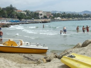 San Remo Beaches, Liguria, Italy
