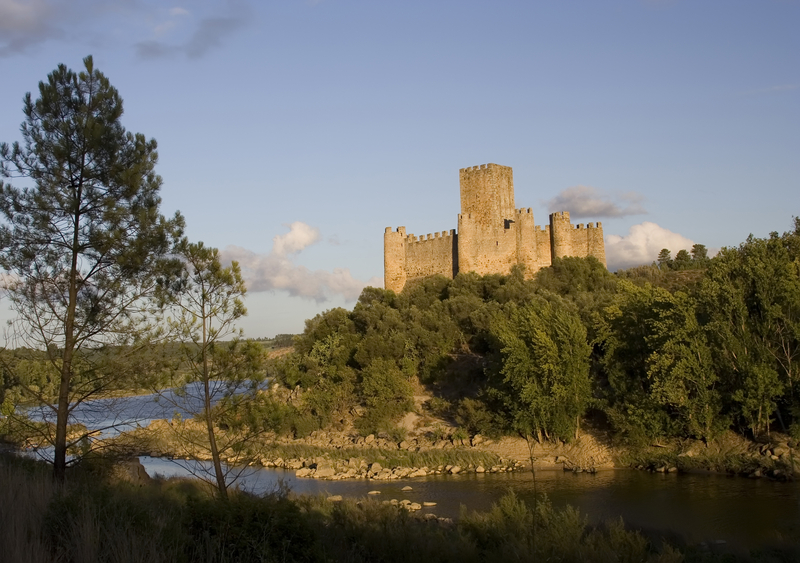 Almourol Castle on the Tagus River Outside, Santeram, Portugal