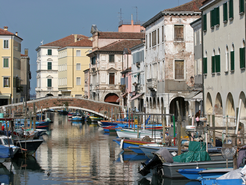 Narrow Waterways of Chioggia, Italy
