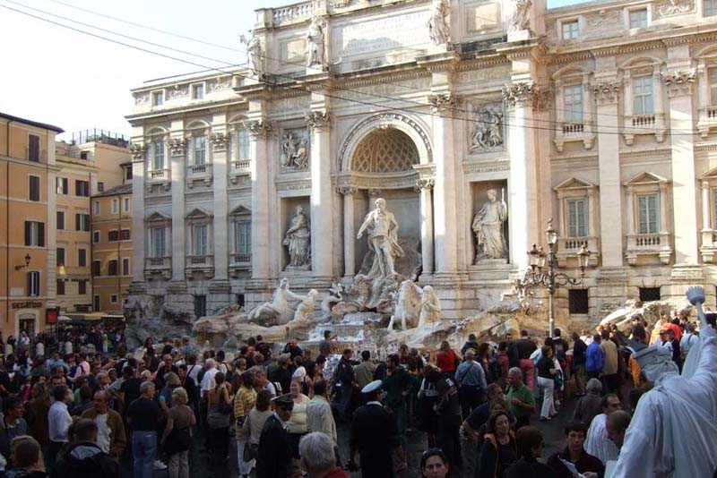 Trevi Fountain on the Back of Palazzo Poli, Rome, Italy