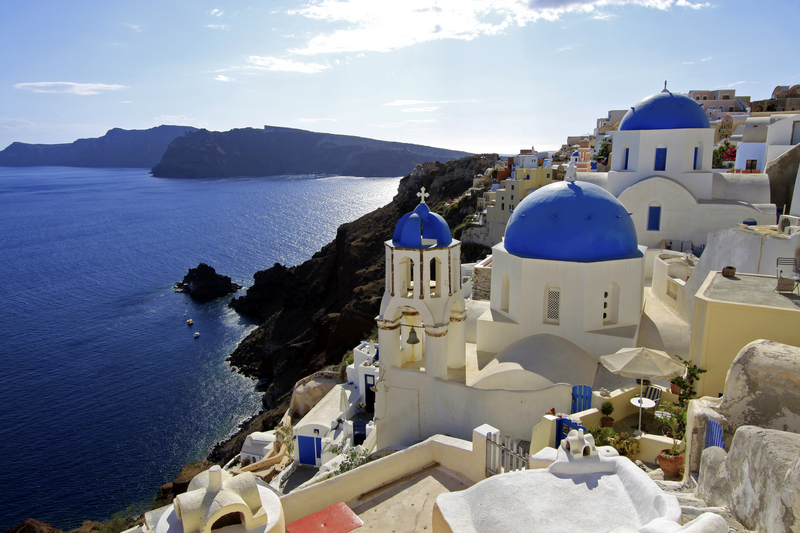 Blue Domes of Santorini, Greece