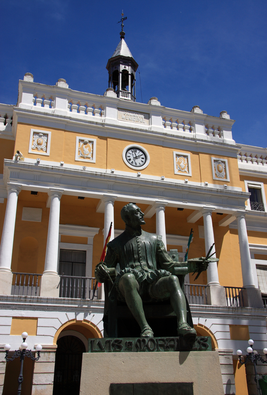 City Hall, Statue of Luis de Morales, Badajoz, Spain