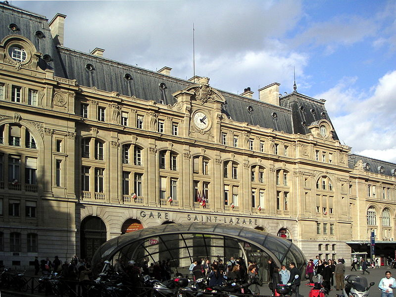 Gare Saint –Lazare Train Station Paris, France