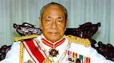 King Taufa, Tonga