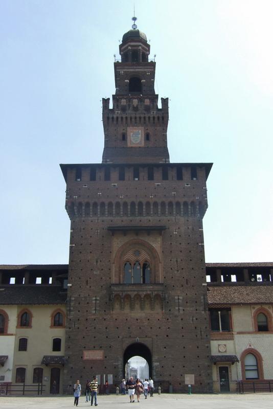 Milan's Sforzesco Castle, Italy