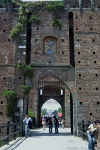 Sforzesco Castle Main entrance, Italy