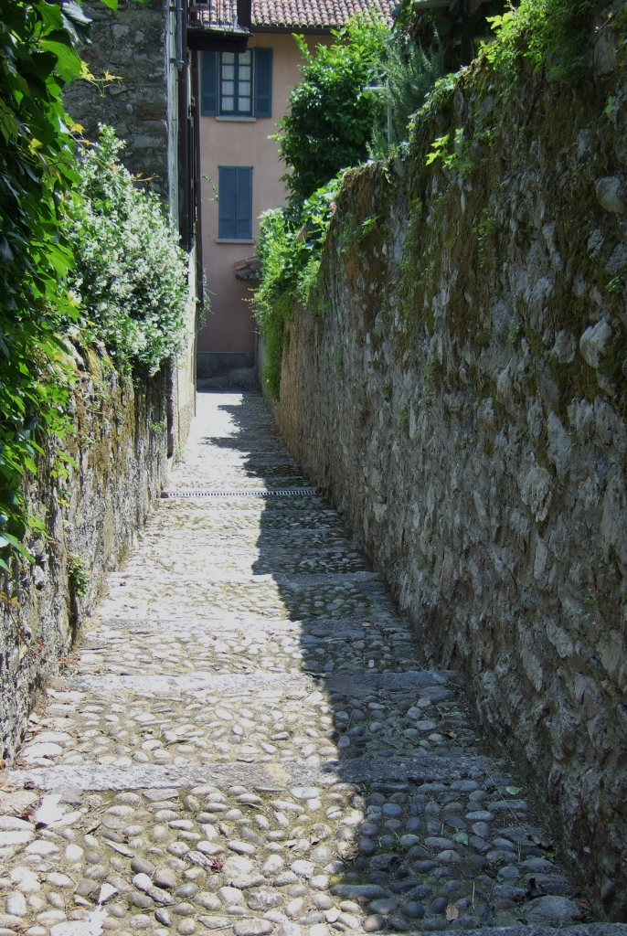 Steps to Pescallo, Lake Como, Italy