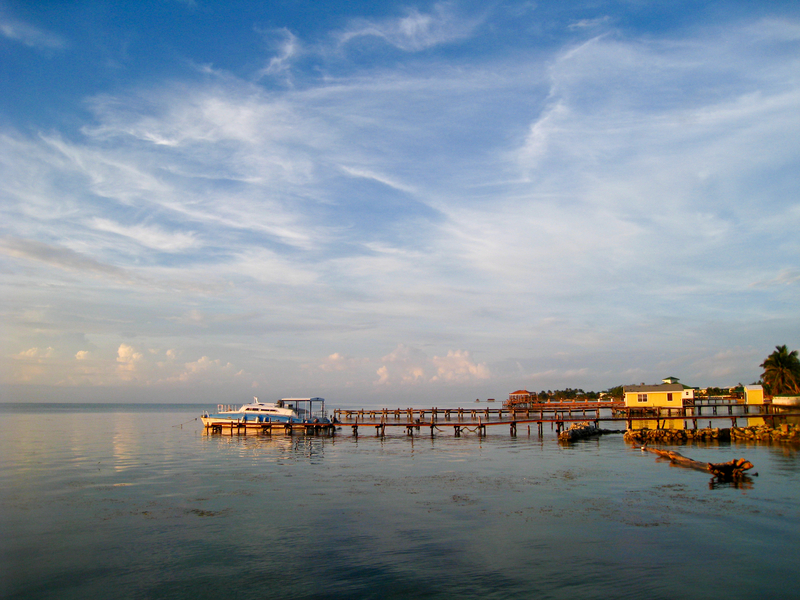 Early morning in Ambergris Caye, Belize