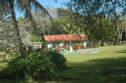 Little wood and metal home in Tonga