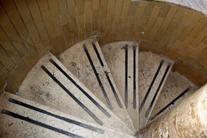 Spiral staircase  to cupola at St Peter's Vatican City, Italy
