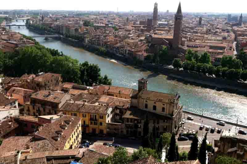View from Castel San Pietro,Verona, Italy
