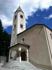 Clock tower in Courmayeur, Italy