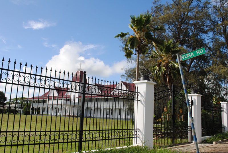 The Royal Palace of Tonga Located in Nuku'alofa, the capital of Tonga