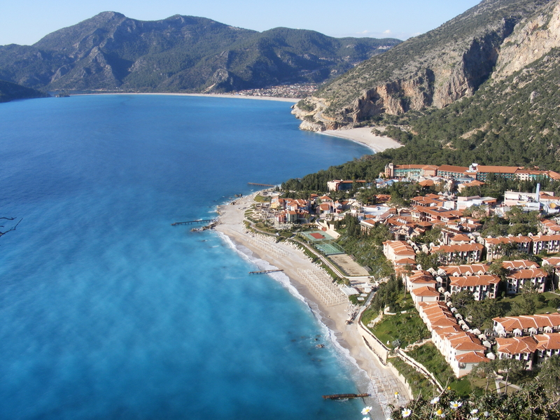 Three beaches in the holiday resort of Oludeniz, Turkey
