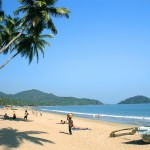 Tropical beach of Palolem, Goa state, India
