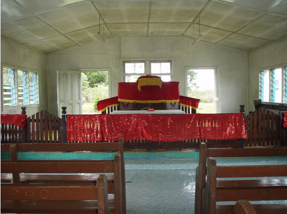 Inside Tonga Church