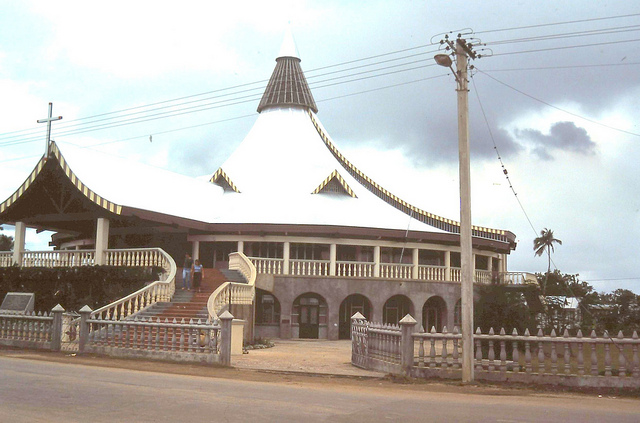Outside Tonga Church