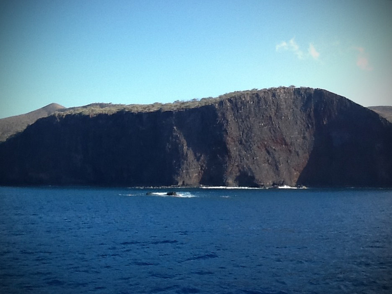 Rugged cliffs on the side of Lanai, Hawaii  Photo by R. Kongaika