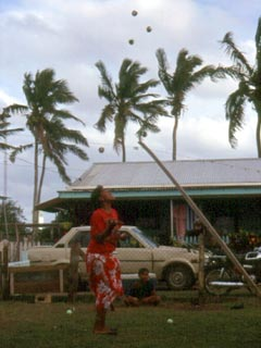 Young Tongan lady juggling