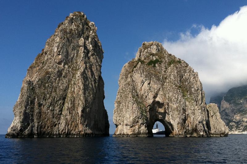 Faraglioni rocks at Capri, Italy