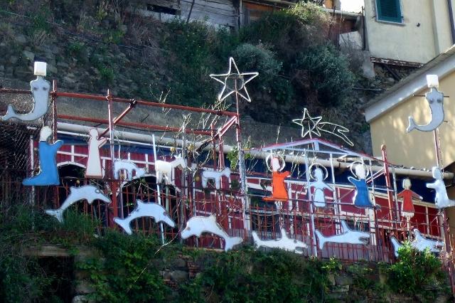 Nativity scene in Manarola Cinque Terre, Italy