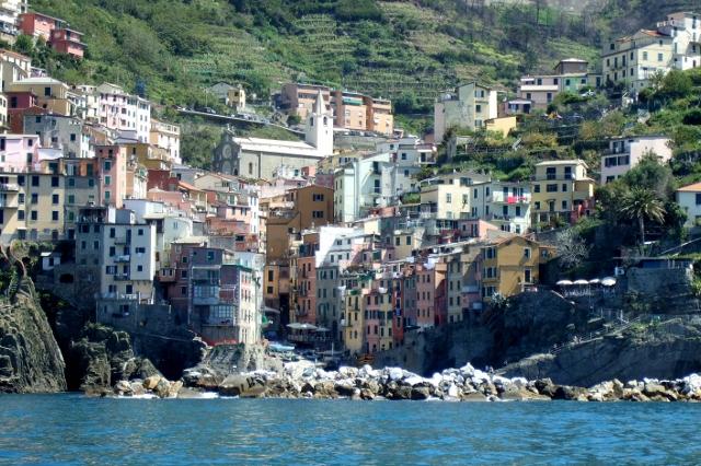 Riomaggiore in the Cinque Terre Italy