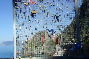 Via dell'Amore Locks Cinque Terre Italy