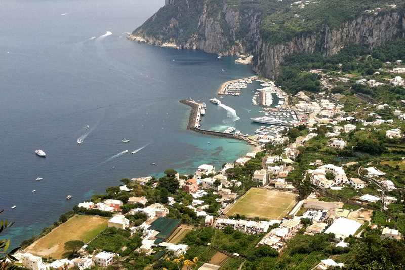View from Anacapri Capri, Italy