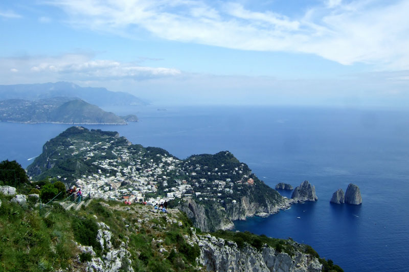 View from Monte Solaro, Capri, Italy