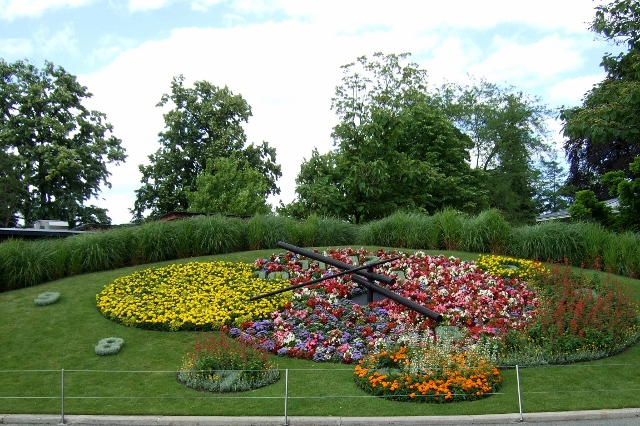 Flower Clock in Geneva Switzerland