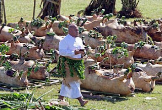 Presentation of Pigs to King of Tonga